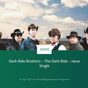 Dark Ride Brothers on MusikBlog 18.4.2017