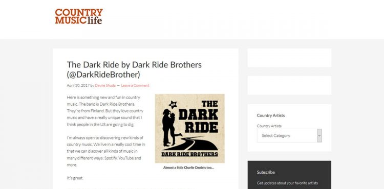 Dark Ride Brothers on Country Music Life