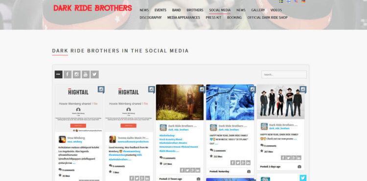 Dark Ride Brothers - Social Media